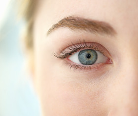 Close up of woman's eye.